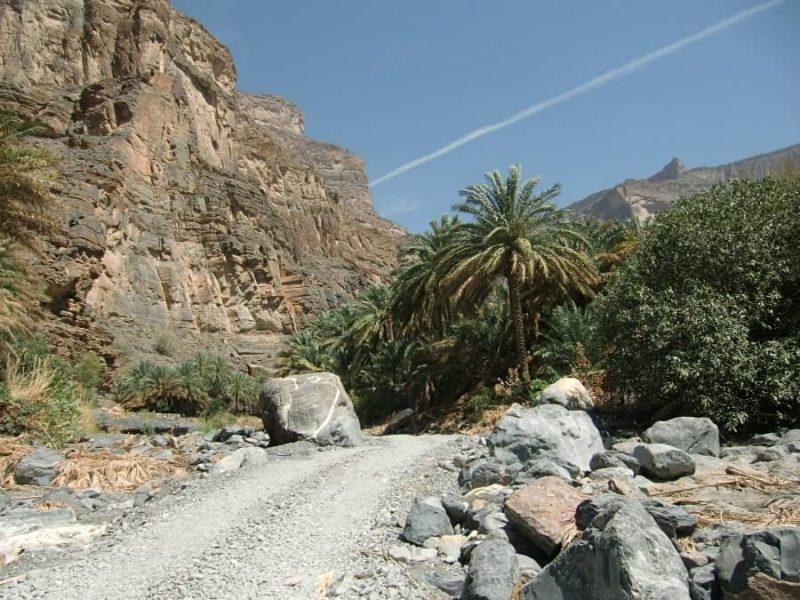 Fahrt durch das Wadi Nakhar zum Jebel Shams