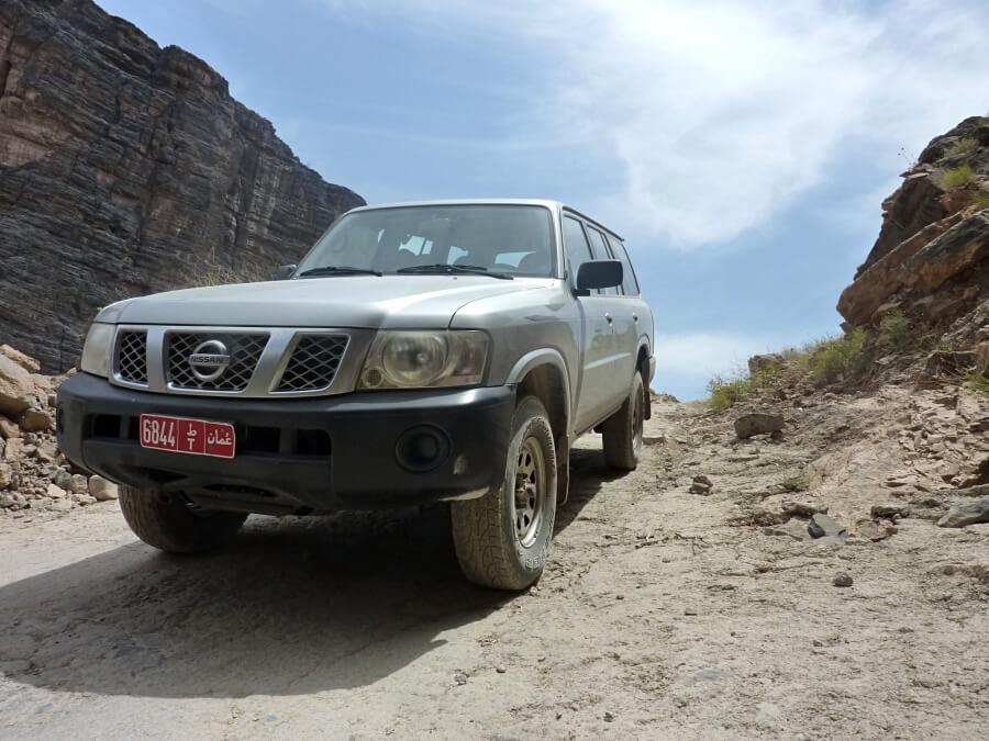Unser Mietwagen fuer die Oman Rundreise auf eigene Faust