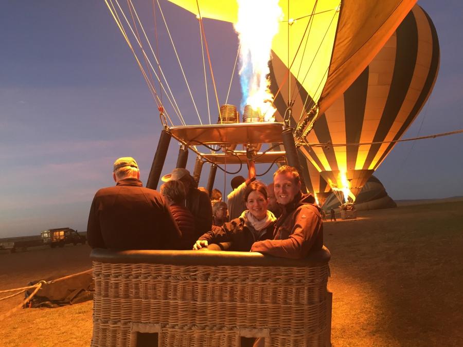 Ballonstart in der Serengeti Tansania