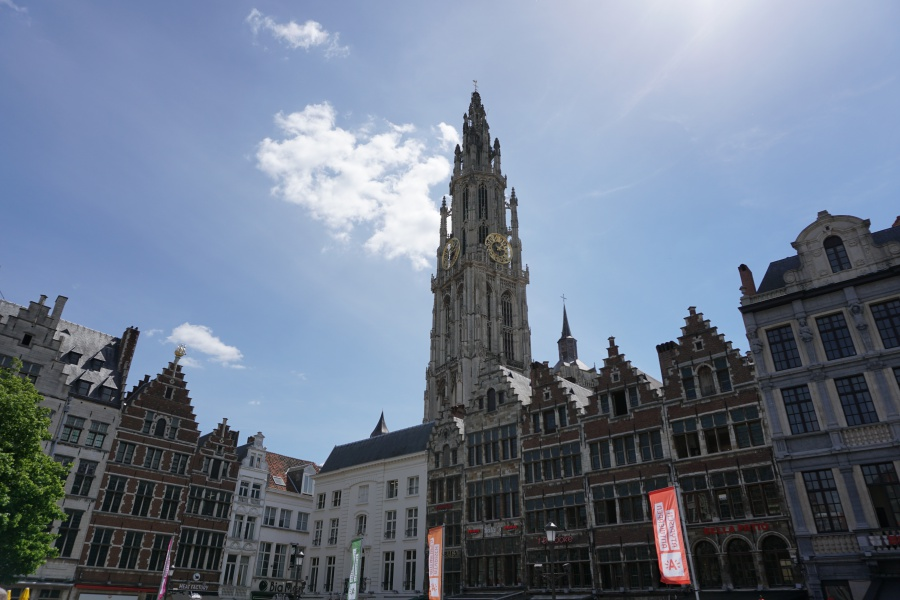 Die Liebfrauenkirche ueberragt die Altstadt