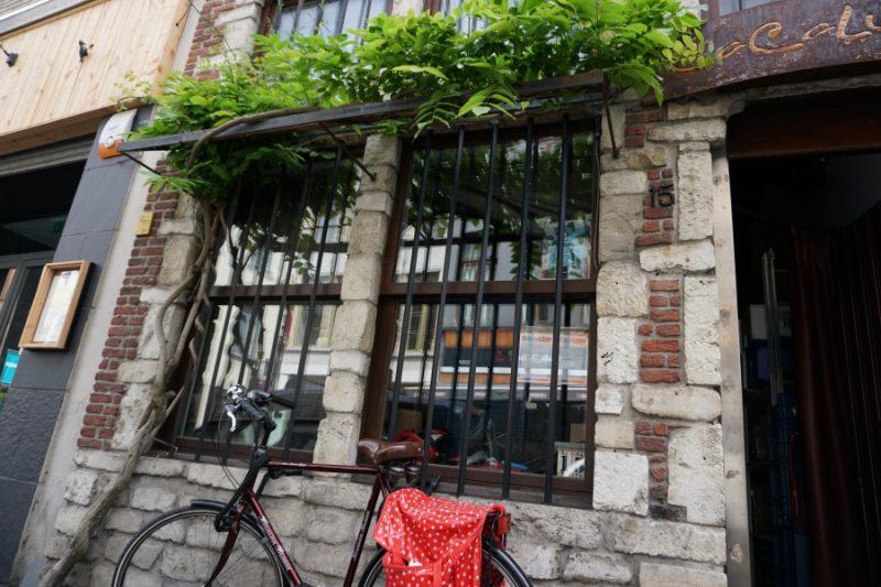 Hauswand in Antwerpen in Belgien