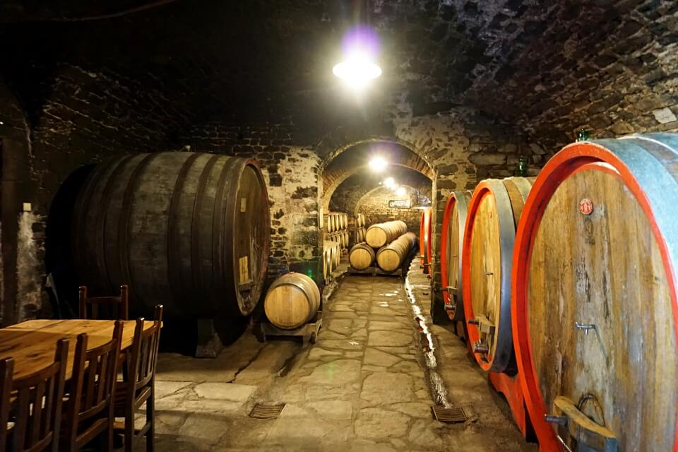 Weinkeller im Weingut Castelvecchi im Chianti
