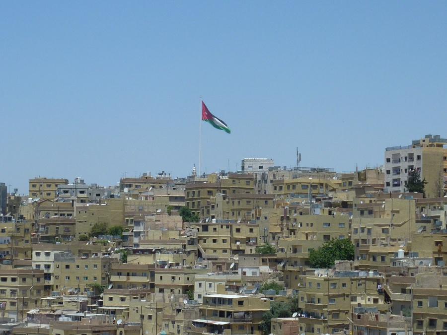 Blick auf die Hauptstadt Amman vom Zitadellenhuegel