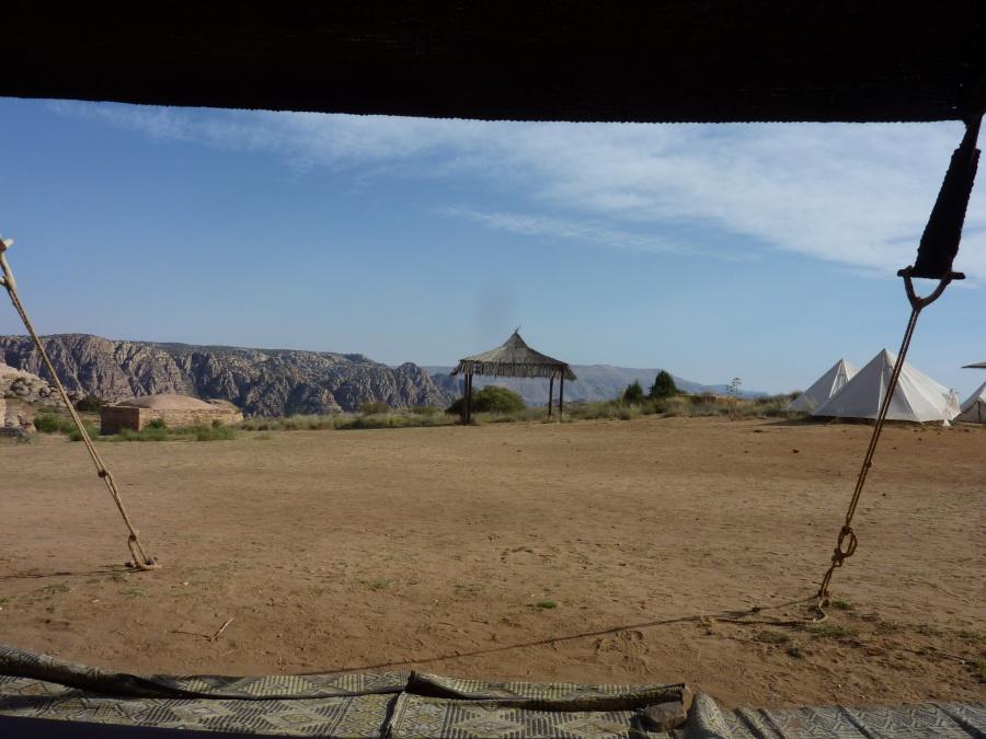 Blick auf das Camp in Dana