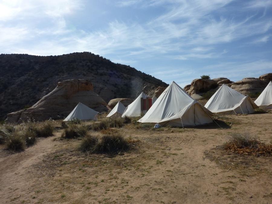 Das RSCN Rummana Camp liegt wunderschoen im Naturschutzgebiet Dana