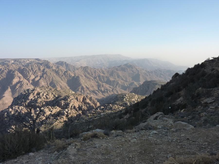 Ausblicke im Naturschutzgebiet Dana in Jordanien