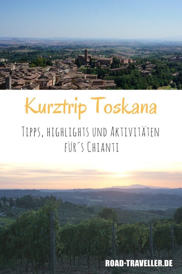 Lust auf eine Kurztrip in die Toskana? Es muessen nicht immer die bekannten Staedte sein. In der Chianti Region laesst es sich abseits der Touristenmassen herrlich genießen, entspannen und wandern.