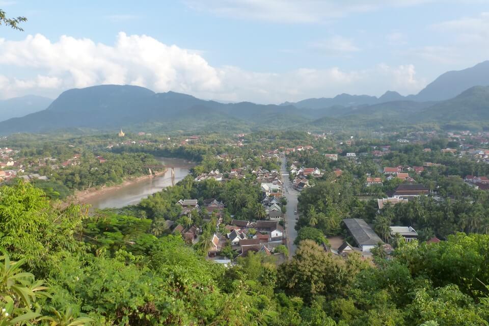 Ausblick über Luang Prabang in Laos