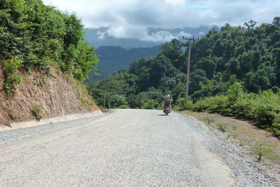 Ausflug mit dem Roller in Lang Prabang