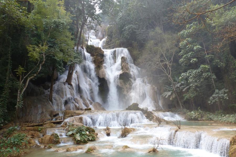 Die Tad Kuang Xi Wasserfälle bei Luang Prabang