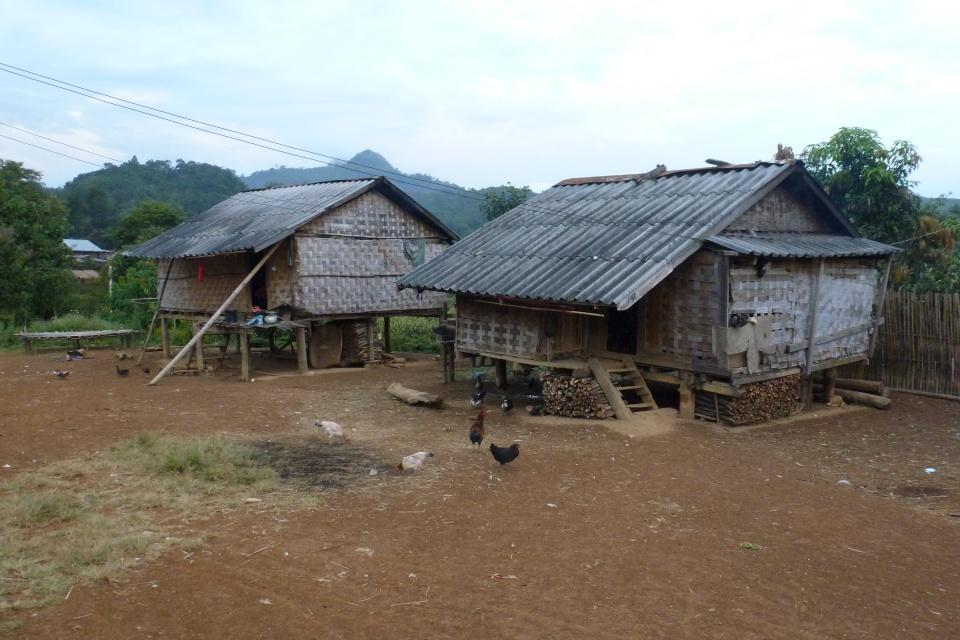 Unser Hmong Dorf beim Homestay in Laos