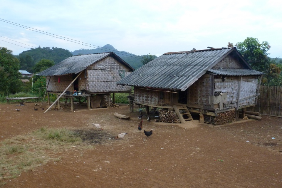 Unser Hmong Dorf beim Homestay in Laos