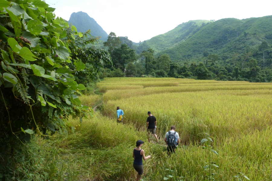 Trekking in Nong Khiaw in Laos