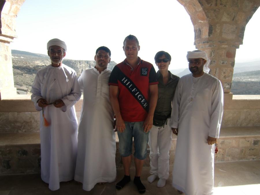 Gastfreundlichkeit im Oman. Diese Familie hat uns mit auf ihren Ausflug auf dem Jebel Akhdar genommen