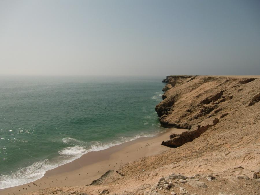 Felskueste auf unserem Roadtrip durch das Sultanat Oman