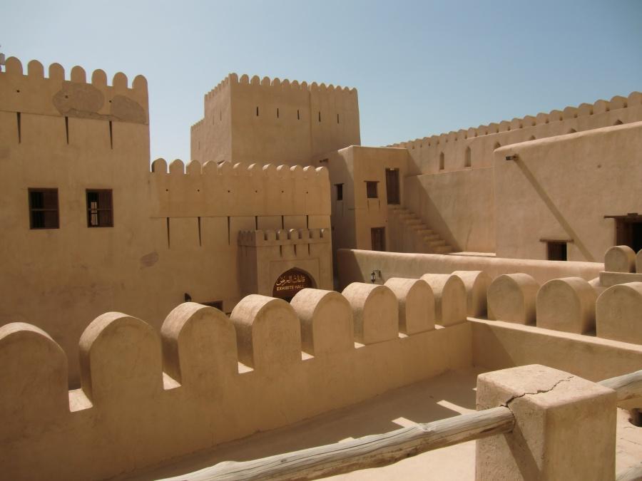 Das Fort in Nizwa im Zentrum des Sultanat Oman