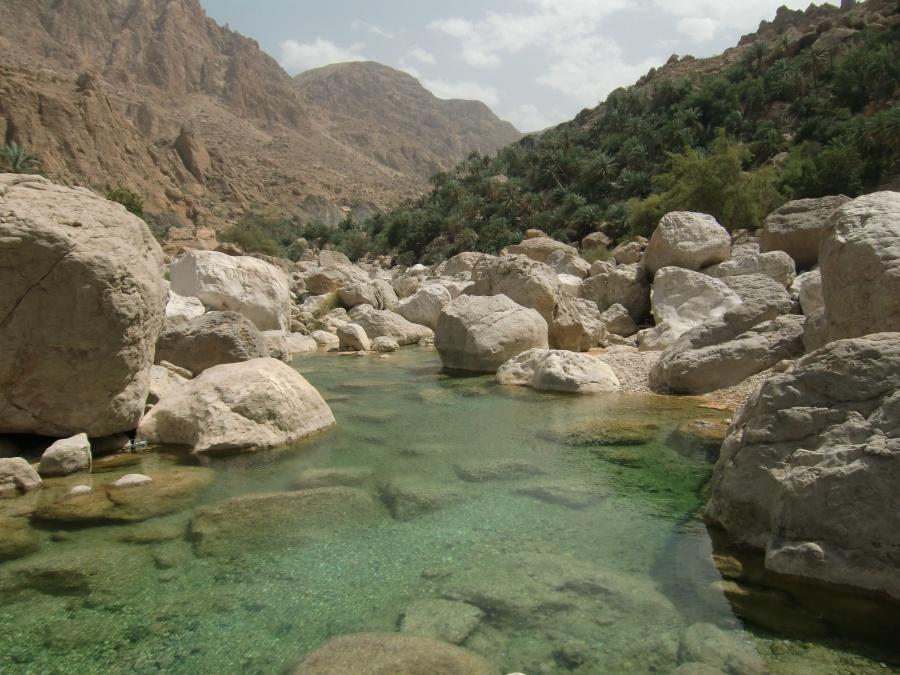 Pool im Wadi Tiwi im Oman