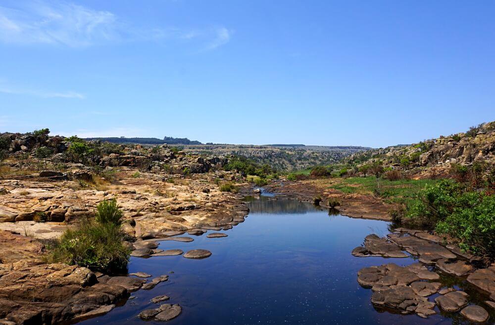 Aussichten an der Panorama Route am Blyde River Canyon in Suedafrika