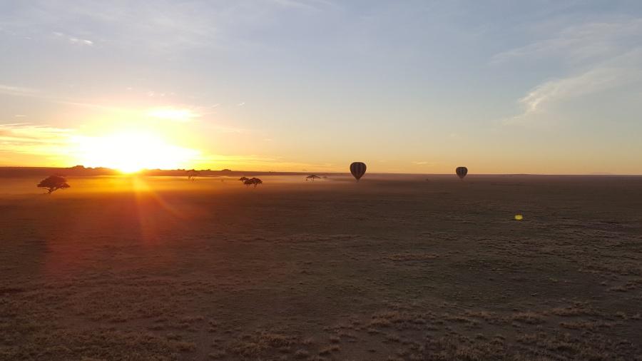 Sonnenaufgang in der Serengeti in Tansania