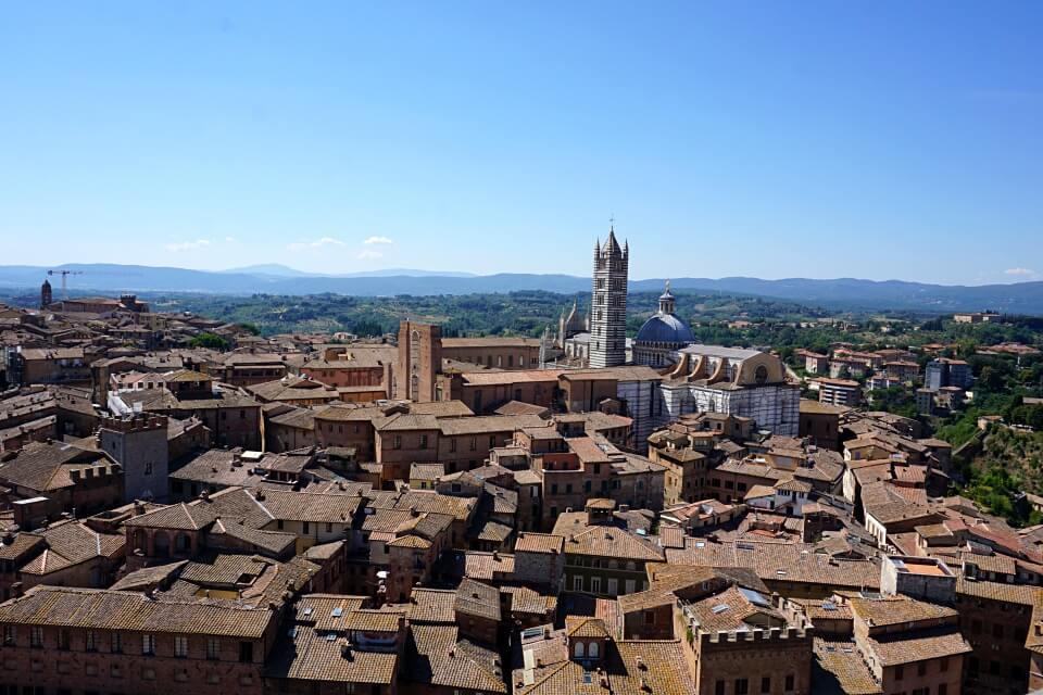 Ausblick über Siena in der Toskana