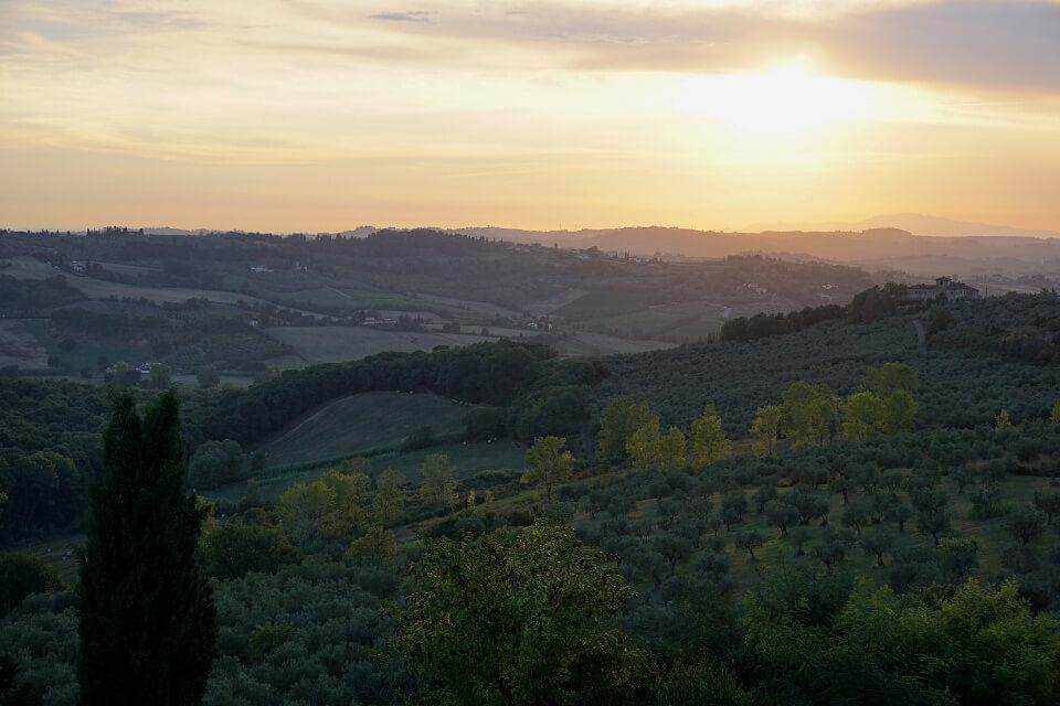Ausblicke im Chianti in Italien