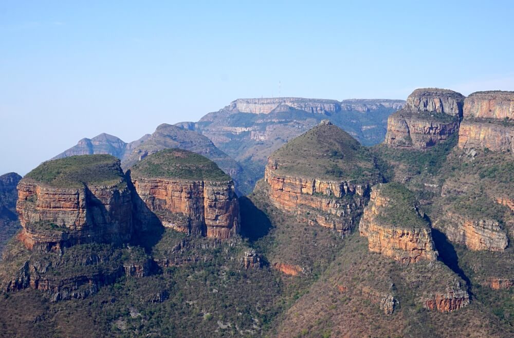 Die Three Rondavels am Blyde River Canyon in Suedafrika