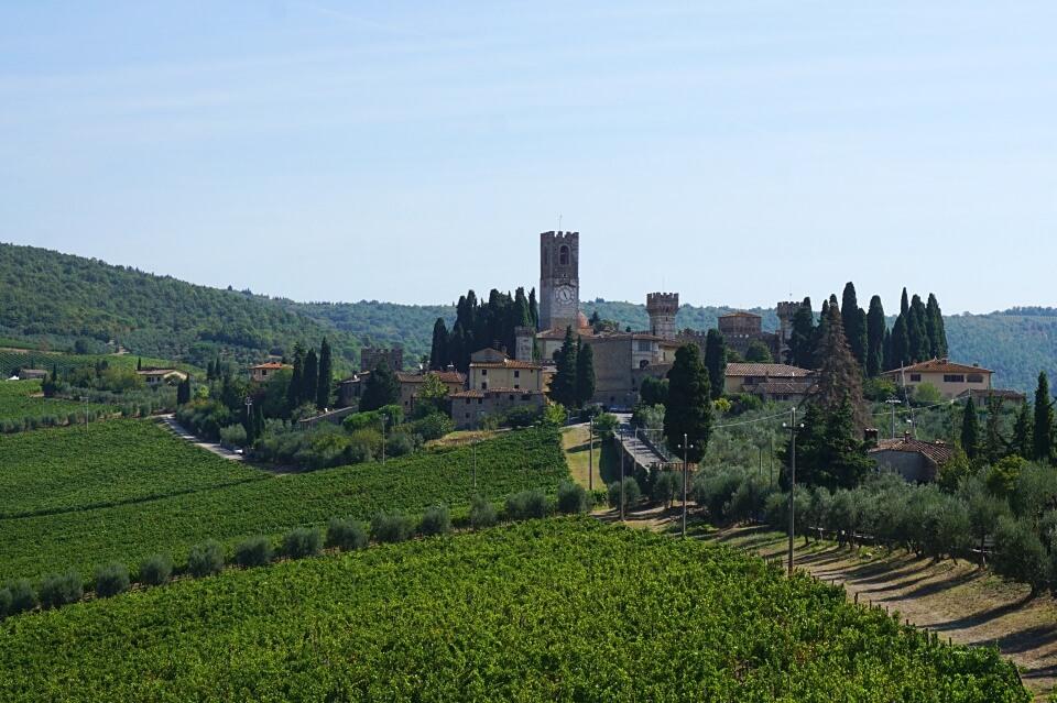 Fahrt nach Badia a Passignano im Chianti in der Toskana