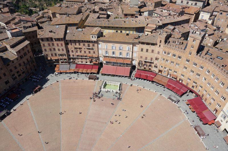 Il Campo von Siena von oben