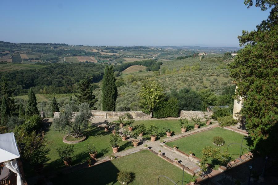 Ausblick von der Villa Talente in der Toskana