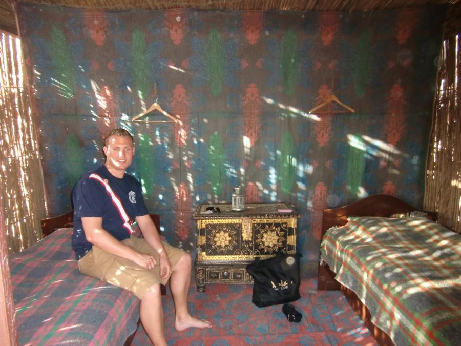 Die Huetten im Nomadic Desert Camp von innen
