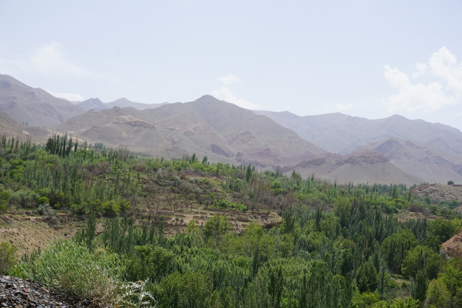 Die Landschaft bei Abyaneh
