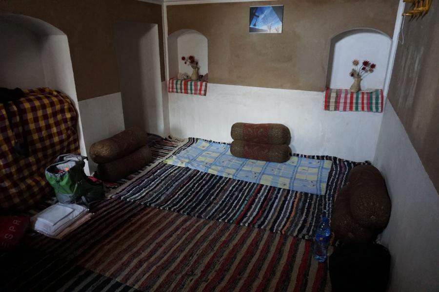 Unterkunft in der Barandaz Lodge in der Dasht-e Kavir Wueste im Iran
