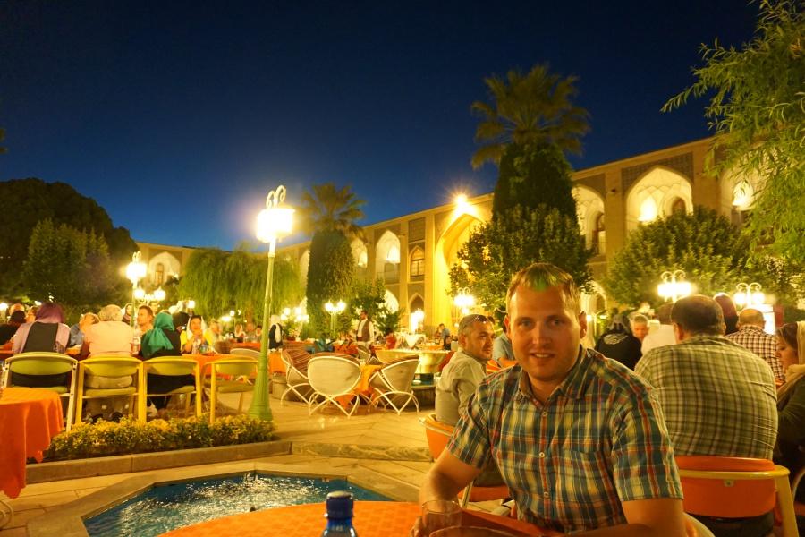 Abendessen im Abbasi Hotel in Isfahan