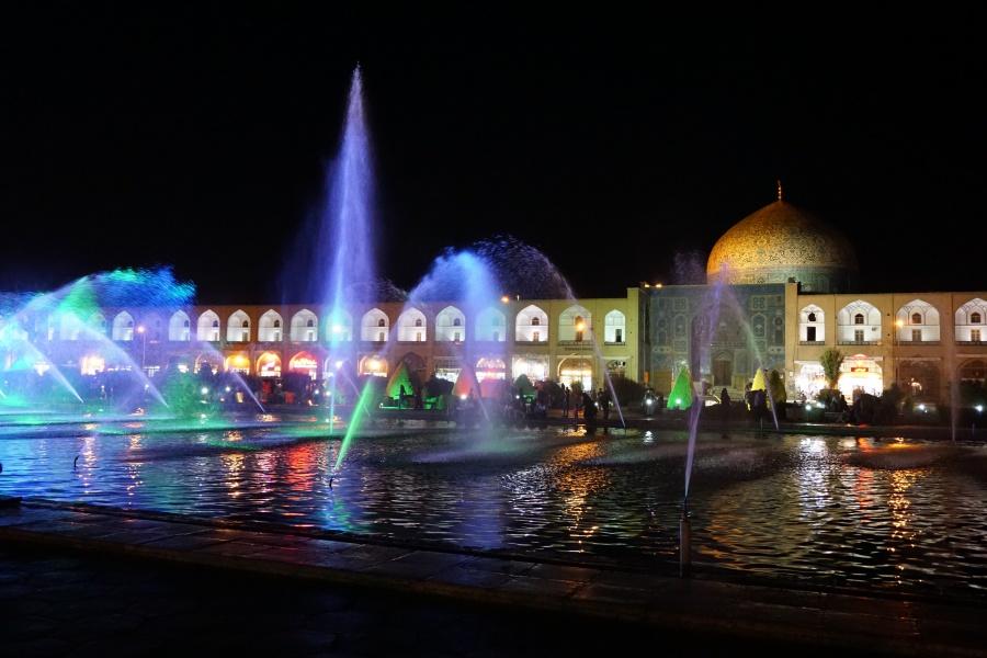 Der Imam Platz in Isfahan Iran bei Nacht