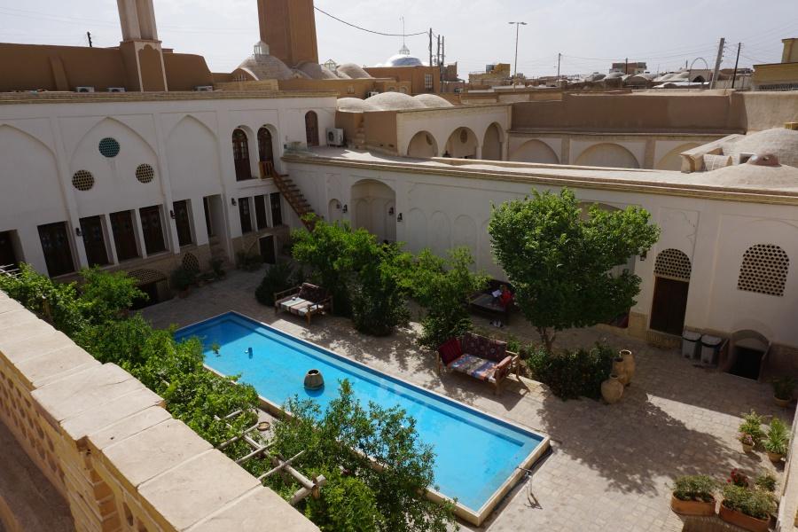 Innenhof des Eshan Historical Guesthouse in Kashan