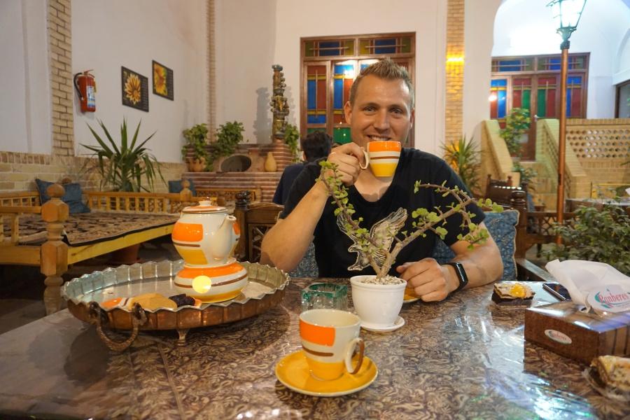 Tee trinken in Kashan