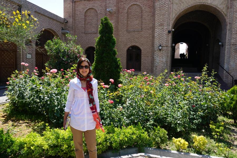 In einem Innenhof in Qazvin Iran