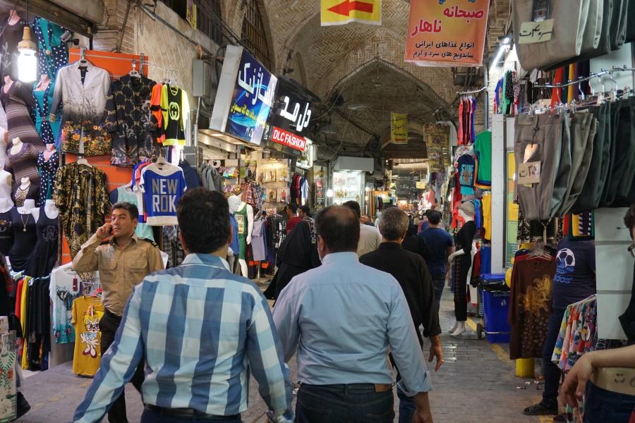 Der Souk in Teheran ist der weltgrößte überdachte Basar