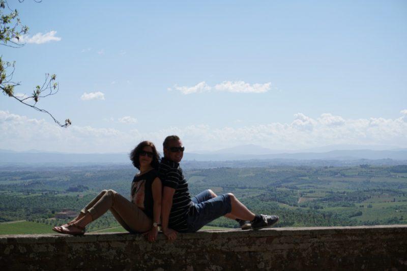 Ausblicke vom Castello di Brolio in der Toskana