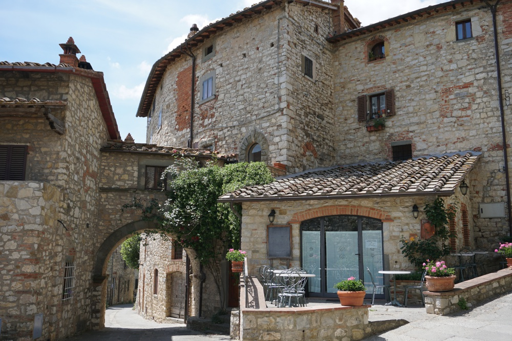 Vertine in Chianti. Ein wunderschönes mittelalterliches Dorf in der Toskana