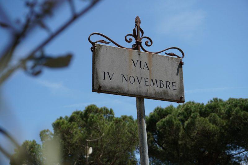 Straßenschild in Castellina in Chianti