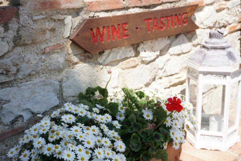 Überall kann man in schoener Umgebung Wein probieren