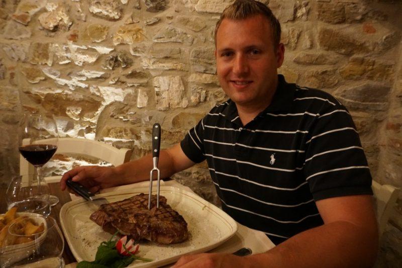 Essen im Chianti Gebiet in der Toskana
