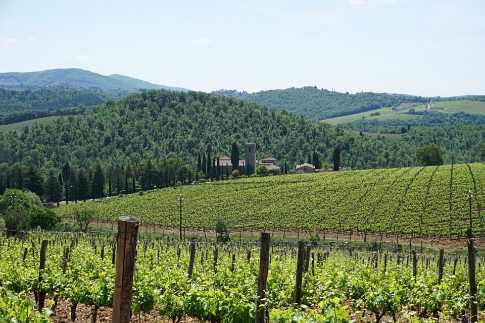 Wandern im Chianti in der Toskana zum ehemaligen Kloster Spaltenna