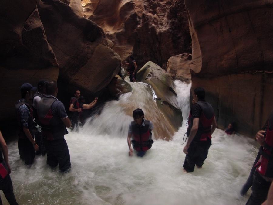 Canyoning im Wadi Mujib