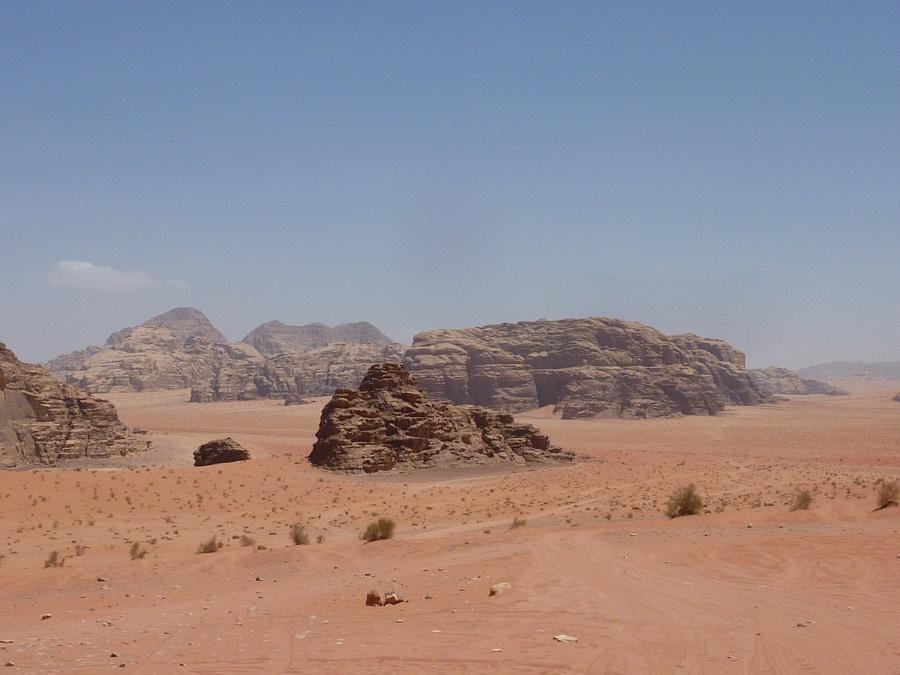 Rote Landschaft im Wadi Rum