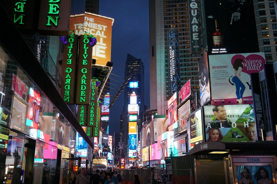 Times Square New York bei Nacht