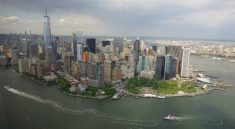 Manhattan und New York City vom Helikopter