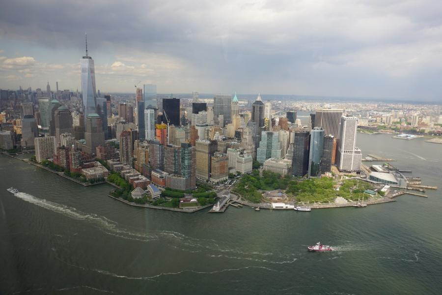 Manhattan und New York City vom Helikopter