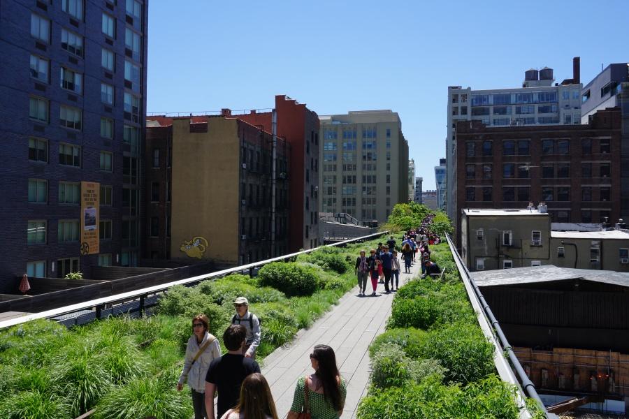 Der High Line Park im Meatpacking District